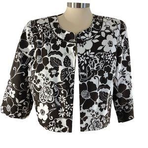 Studio I VINTAGE Bolero Waist Jacket 16 Floral